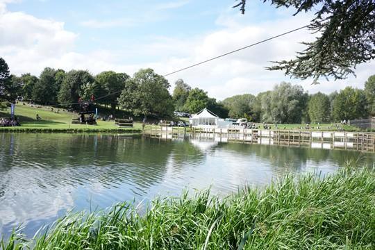 CableCam over river Blenheim Horse Trials