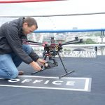"""PRESS RELEASE - WEDNESDAY JULY 12, 2017 BOXERS FACE OFF IN ÔHIGHEST RING IN THE WORLDÕ ON TOP OF ITV HQPICTURED: Skypower Drone operator makes a few last minute adjustments Chris Eubank Jr squared up to his opponent in Saturday nightÕs world title fight Arthur Abraham in whatÕs believed to be the worldÕs highest boxing ring - on top of ITVÕs studios in London.  Going toe-to-toe on the canvas in a specially-constructed ring atop the 24-storey, 85-metre high London Studios tower on the Southbank, Eubank and Abraham are building up to their bout at the SSE Arena Wembley this weekend, screened live and exclusively by ITVÕs pay per view channel, ITV Box Office. The Big Fight Live returns as Chris Eubank Jr follows in his fatherÕs footsteps by defending his IBO world super-middleweight title taking on former three-time, two-weight world champion Abraham. Chris Eubank Jr said: ÒIÕm right at the the top of my game - so itÕs highly appropriate that this amazing ring with the London skyline as a backdrop is where weÕre facing off.  IÕm aiming for the stars - to be vicious and strong in the ring, and to reach the peak of my powers on Saturday night.Ó Arthur Abraham said: ÒThereÕs a great view up here - but the only view Chris Eubank will be getting on Saturday is of the referee raising my arm in victory.Ó Promoter Richard Poxon of Poxon Sports said: """"This fight will elevate Chris Eubank Jr to the next level and itÕs great that the coverage is live and exclusive on ITV Box Office."""" Mark Pougatch hosts live from ringside, while expert analysis will be provided by former lightweight world champion Anthony Crolla, Duke McKenzie and George Groves. Commentary comes from Ronald McIntosh and Richie Woodhall, reporting from Gabriel Clarke. The show is promoted by Poxon Sports in association with Team Sauerland. Eubank, 27, who moved up from middleweight for his previous world title-winning fight against Renold Quinlan in February, also shown"""